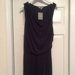 NWT Bordeaux (anthro) drop waist plum dress sz L